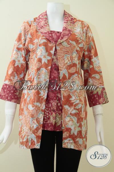 Pakaian Batik Wanita Ukuran L Batik Blus Istimewa Berbahan Halus