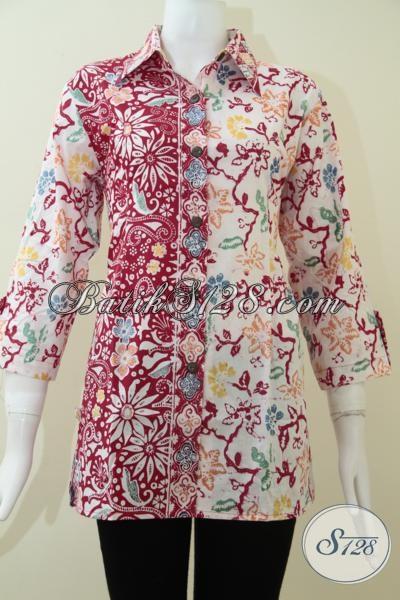 Batik Wanita Terlaris,Elegan Dan Banyak Disukai Oleh Para Penggemar Batik CAp [BLS1348C-L]
