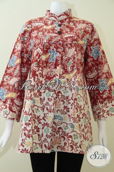 Baju Batik Model Terbaru Batik Wanita Krah Shanghai Bls1367c L