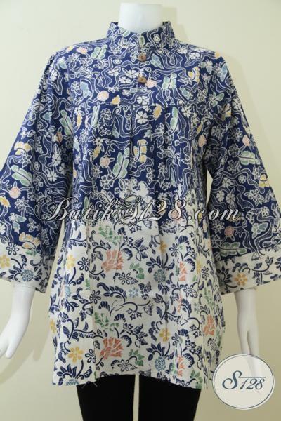 Online Shop BAtik Solo Harga Murah Tersedia Berbagai Model Blus Wanita Modern [BLS1377C-XXL]