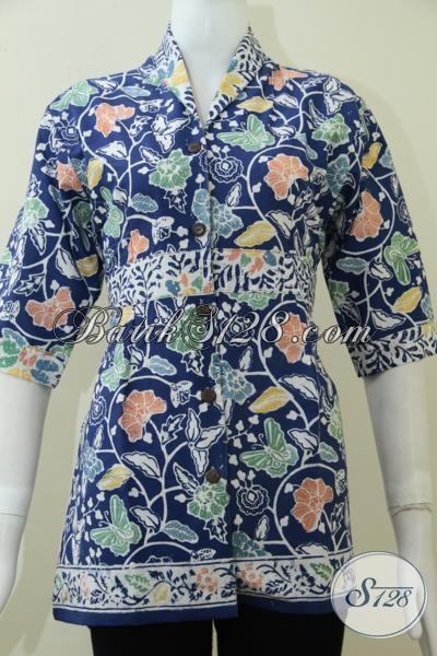 Pusat Busana Batik Perempuan Online, Jual Blus Batik Kerja Wanita Karir Tampil Trendy Dan Percaya Diri, Size S – M – L
