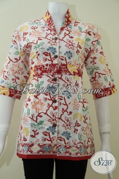 Juragan Busana Batik Wanita Kwalitas Premium, Baju Batik Mewah Harga Bawah, Size L