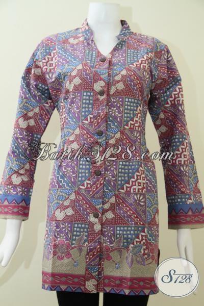 Butik Pakaian batik Wanita Modern, Jual Koleksi Blus Batik Istimewa Untuk Perempuan Berbadan Besar Tetap Tampil Modis Dan Cantik, Size XXL