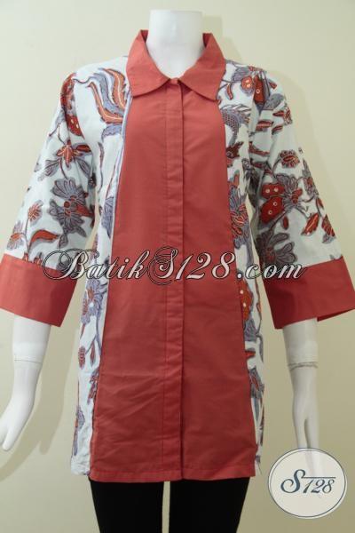 Blus Cantik Batik Trendy Untuk Wanita Modern [BLS1385BT-XL]