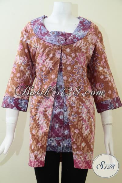 Busana Batik Wanita Trendy Dan Modern Asli Produksi Kota Solo [BLS1407P-XL]