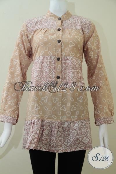 Rumah Batik Online Asli Solo, Jual Blus Batik Trendy Modern Dan Fashionable Untuk Perempuan Muda Paham Mode, Size M