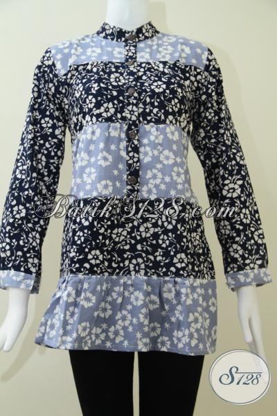 Pakaian Batik Perempuan Sukses Masa Kini, Blus Batik Model Terbaru Cocok Untuk Kerja Resmi Dan Santai, Size M