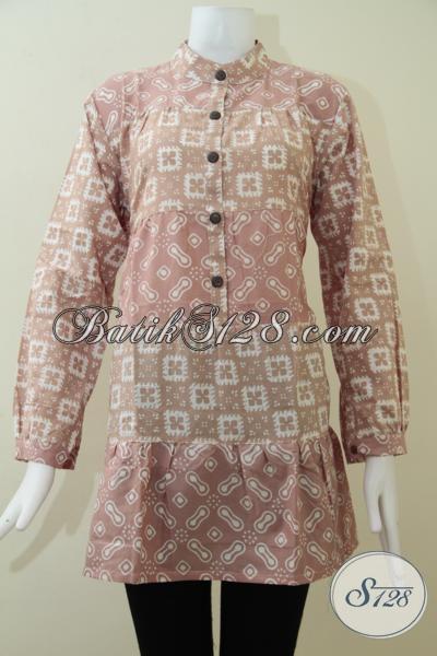 Baju Batik Kerja Wanita Modern Blus Batik Wanita Lengan