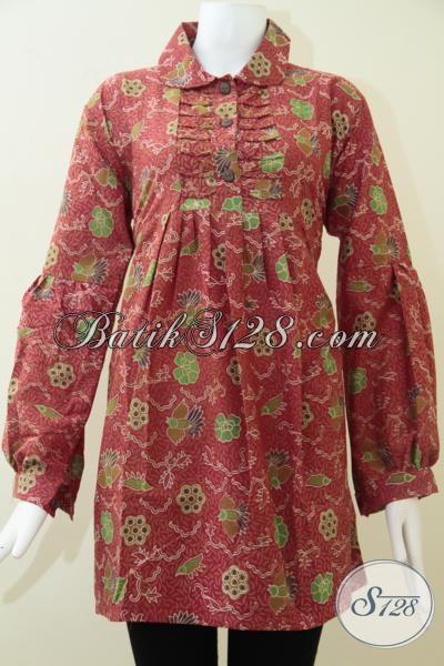 Baju Batik Lengan Panjang Motif Burung Cuwiri Bagus Dan