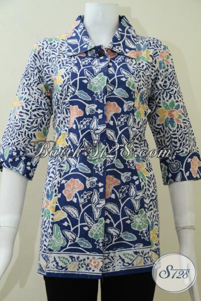 BAju BAtik Wanita Lengan Tiga Perempat [BLS1447C-M]