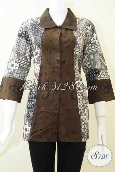 Blus Wanita Batik Printing Harga Murah Dan Banyak Disukai [BLS1449P-L]