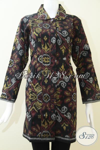 Baju Tenun Asli Model Blus Lengan Panjang Cocok Untuk Kondangan Dan Rapat, Size L