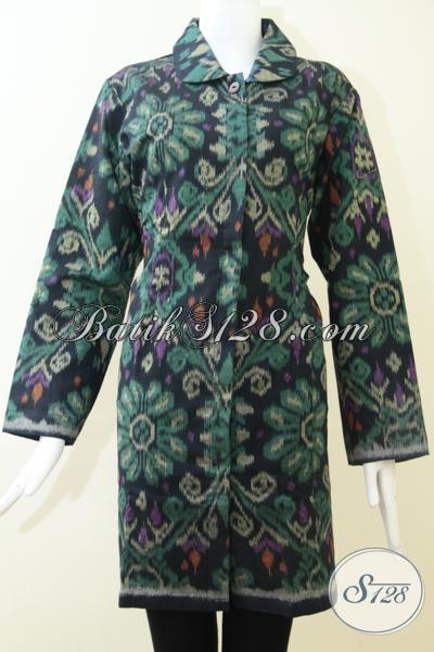 Baju Tenun Modern Ukuran Jumbo Trend Tenun Masa Kini
