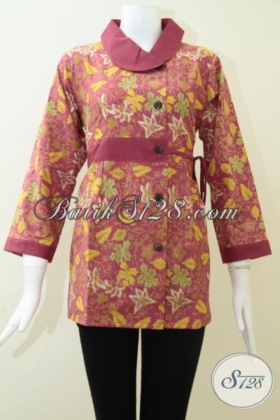 Trend Mode Busana Batik Perempuan Seragam Kantor Terbaru, Baju Blus Batik Keren Kwalitas Bagus Harga Terjangkau, Size M – XL