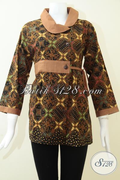 Jual Koleksi Batik Blus Untuk Acara Resmi Maupun Kerja, Baju Batik Klasik Sentuhan Modern Sempurnakan Penampilan Wanita Indonesia, Size M