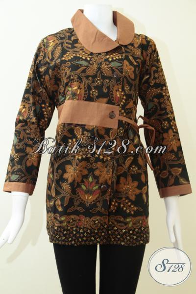 Baju Batik Klasik Modern Asli Produk Solo Indonesia, Busana Blus Batik Mewah Elegan Harga Terjangkau, Size L – XXL