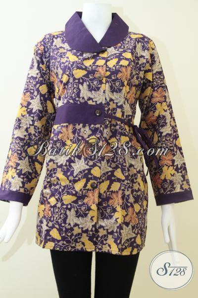 Baju Batik Printing Murah Kwalitas Mewah, Blus Batik Modern Motif Terkini Untuk Kerja Dan Pesta, Size XXL