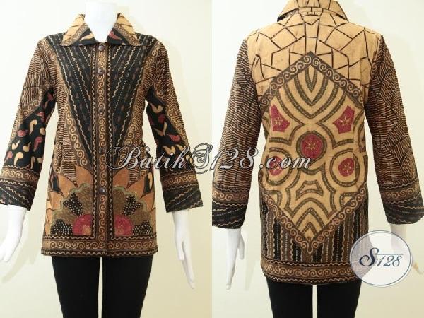Busana Batik Tulis Premium Untuk Perempuan Sukses, Baju Blus Batik Motif Mewah Model Masa Kini Sempurnakan Penampilan Wanita Indonesia, Size M