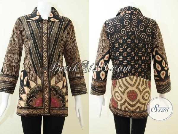 Busana Batik Solo Handmade Proses Tulis, Blus Batik Bagus Mahal Mewah Berkelas [BLS1466T-M]