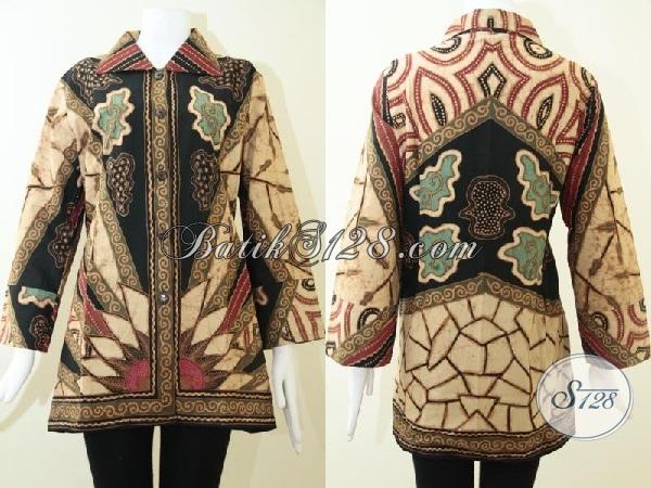 Pusat Belanja Online Busana Batik Wanita Masa Kini, Sedia Blus Batik Klasik Modern Proses Tulis Mewah Berkelas, Size XXL