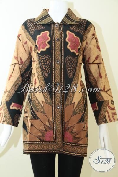 Blus Batik Klasik Istimewa Untuk Perempuan Berbadan Besar, Pakaian Batik Formal Mewah Berkelas Ukuran XXL