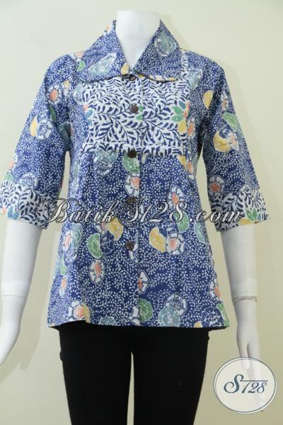 Pusat Batik Solo Online Jual Blus Batik Model Terbaru Untuk Wanita Karir Yang Selalu Ingin Tampil Trendy, Size M