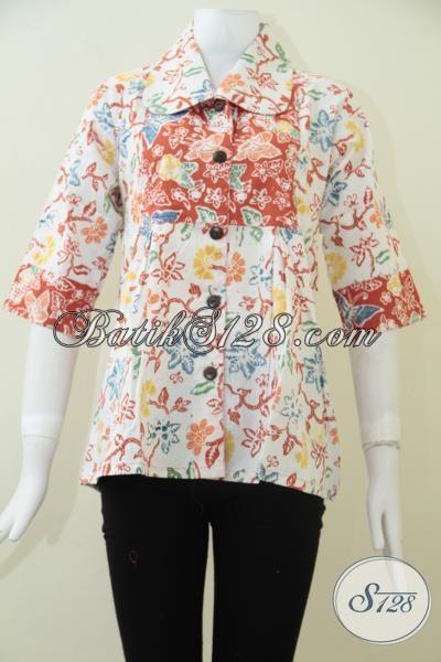 Baju Batik Perempuan Muda Kwalitas Premium Halus Dan Nyaman Dipakai, Blus Batik Masa Kini Menambah Kecantikan Wanita Modern, Size M