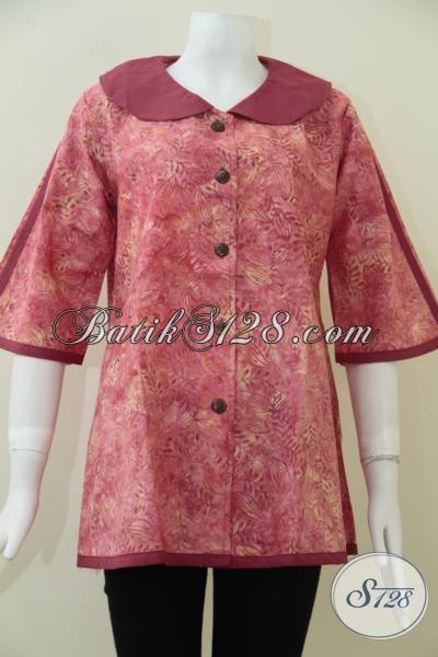 Model Terkini Blus Batik Formal Untuk Kerja Wanita Kantoran Baju