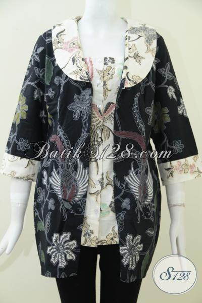Pedagang Batik Solo Online Paling Up To Date, Sedia Busana Batik Wanita Terbaru Dengan Desain Mewah Berpadu Motif Klasik Modern Terlihat Modis Sekali, Size L