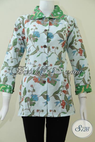 Butik Pakaian Blus Batik Melayani Penjualan Online, Sedia Busana Batik Resmi  Wanita Muda Dan Dewasa Dengan Desain Terbaru Dan Motif Terkini [BLS1545P-M,L]