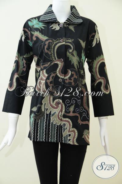 Baju Blus Batik Tulis Klasik Modern Untuk Perempuan Karir Aktif Yang Selalu Ingin Tampil Sempurna [BLS1551T-S]