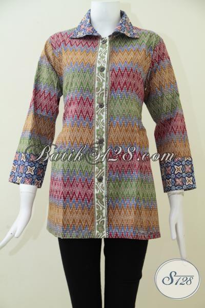 Pakaian BatikPerempuan-Perempuan Masa Kini Yang Selalu Ingin Tampil Trendy,Blus Batik Solo Membuat Wanita Tampil Semakin Percaya Diri [BLS1555CT-M]