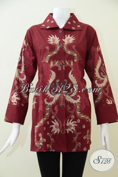 Aneka Pakaian Batik Seragam Kerja Wanita Kantoran Baju