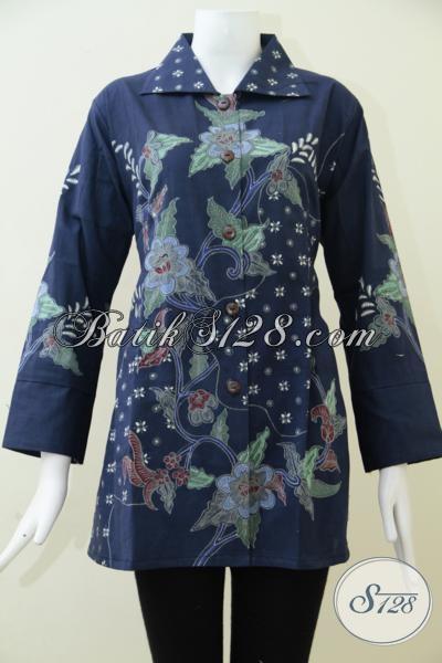 Tempat Belanja Busana Batik Online Sedia Blus Batik Formal Untuk Seragam Kerja Dengan Desain Dan Motif Terkini, Size XL