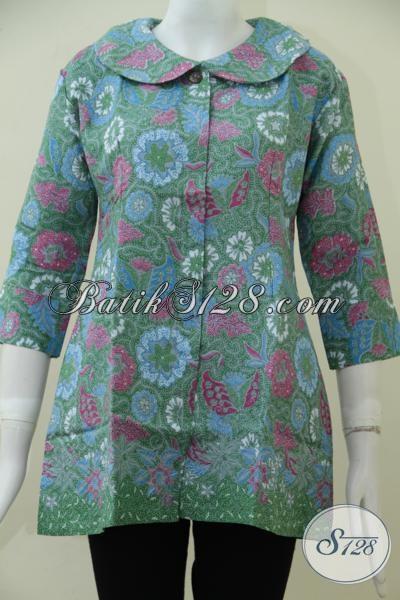 Online Shop Batik Solo Jual Blus Batik Print Bahan Katun Dolby Yang Lembut Berpadu Dengan Mitif Serta Warna Trend Masa Kini Lebih Terlihat Modern Dan Berkelas, Size L – XL