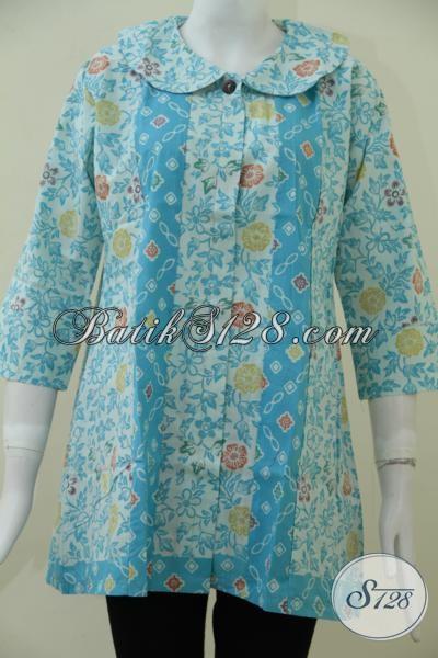 Blus Batik Wanita Terbaru Dengan Warna Cerah Dan Motif Trendy, Membuat Penampilan Cewek Masa Kini Lebih Fresh Dan Feminim, Size XL