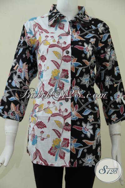Tempat Penjualan Baju Batik Solo Murah Sedia Blus Batik Keren Untuk Wanita Muda Tampil Keren Dan Gaul, Baju Batik Murah Kwalitas Mewah, Size L