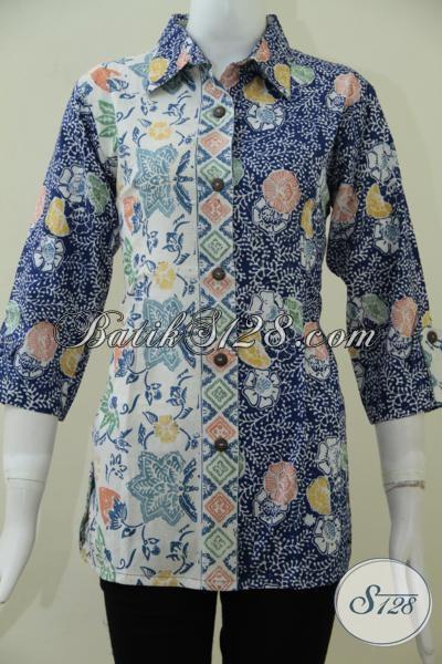 Pakaian Batik Wanita Muda Dan Dewasa Jaman Sekarang Lebih Rapi Motif Trendy Bahan Halus Harga Terjangkau, Size L