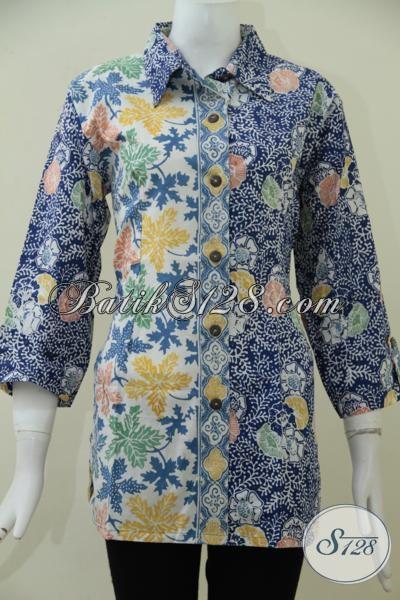 Pakaian Batik Wanita Trensd Mode Terkini Dengan Kombinasi