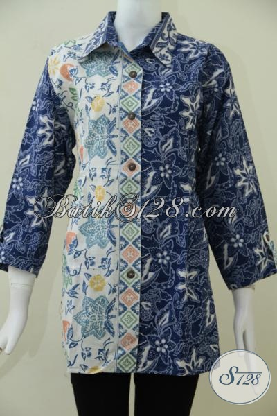 Jual Blus Batik Modern Model Dan Motif Paling Di Cari Saat Ini, Tersedia Juga Ukuran Jumbo Untuk Perempuan Dengan Badan Gemuk, Size XXL