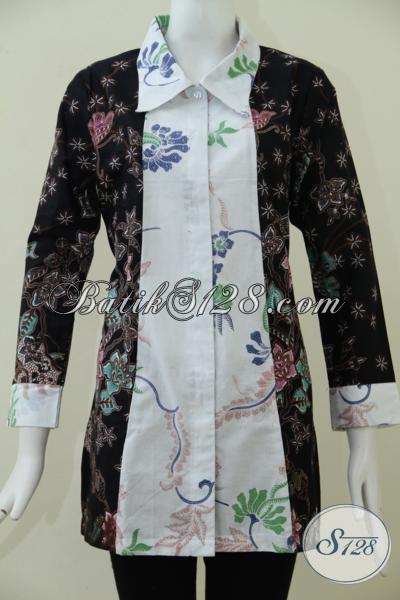 Baju Batik Wanita Desain Terkini Berpadu Dengan Kombinasi