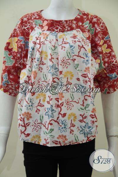 Jual Aneka Busana Batik Untuk Wanita Muda Dan Remaja Putri Masa Kini Melayani Online, Baju Batik Trendy Kwalitas Premium Harga Minimum [BLS1635C-ALL Size]