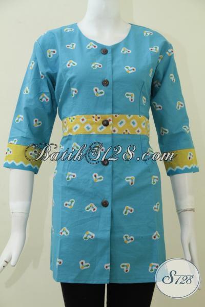 Desain Busana Batik Perempuan Terbaru, Baju Blus Batik Trendy Dengan Motif Yang Simple Lebih Fungsional Untuk Segala Acara [BLS1667P-S]