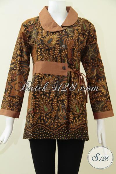 Koleksi Terbaru Tokio Batik Online, Blus Batik Klasik Desain Mewah Untuk Wanita Karir Aktif Tampil Elegan Dan Berkelas [BLS1670P-M]