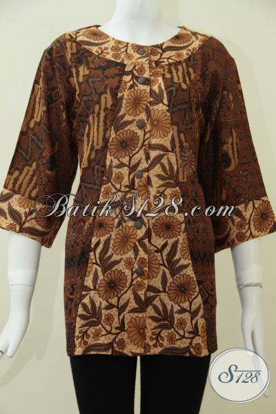 Jual Baju Batik Perempuan Model Paling Baru Saat Ini, Busana Blus Batik Kerja Motif Klasik Kesan Mewah Dan Berkelas Dengan Harga Murah [BLS1690PR-L]