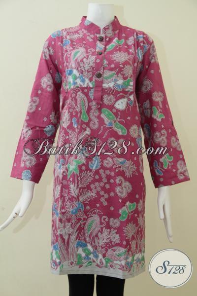Busana Batik Print Dengan Kwalitas Kain Halus Motif Dan Warna Cewek Banget Hanya 100 Ribuan [BLS1704P-XL]