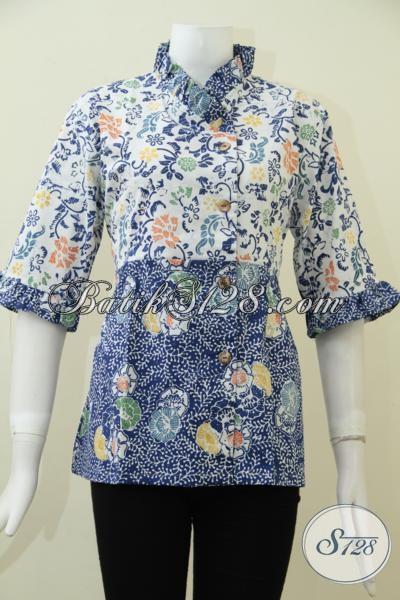 Toko Online Aneka Batik Modern Busana Kerja Wanita Karir Motif Terbaru, Blus Batik Desain Mewah Proses Cap Berbahan Halus Harga Terjangkau, Size S – M – L