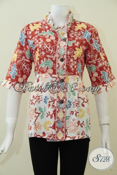 Tempat Belanja Fashion Batik Paling Up To Date, Sedia Blus Batik Trendy Model Paling Baru Saat ini Lebih Keren Dan Fashionable [BLS1719C-M]