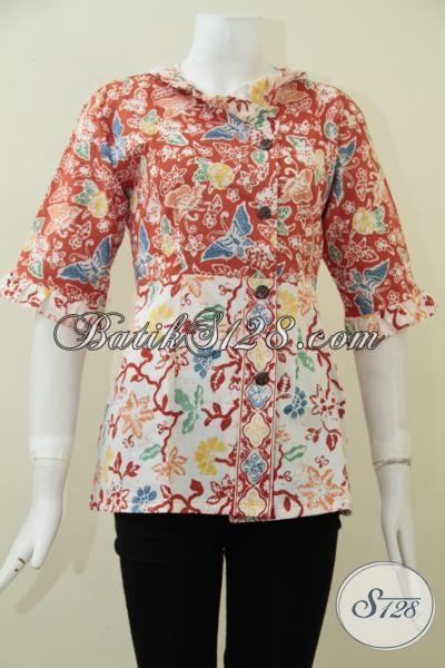 Online Shop Aneka Busana Batik Wanita, Sedia Blus Batik Keren Untuk Kerja Dan Hangout Warna-Warni Terbaru, Size S