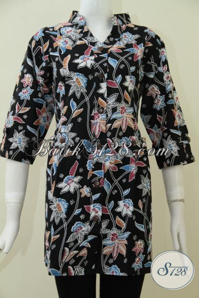 Jual Baju Batik Untuk Wanita Muda Dan Dewasa Model Blus, Busana Batik Trendy Untuk Kerja Bisa  Santai Juga Bisa [BLS1744P-L]